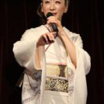 超意外な人がステージに!? 西尾夕紀さん 新曲「龍飛埼灯台」発表会