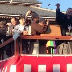 島津悦子 親しい横綱・白鵬関と西新井大師總持寺で豆まき