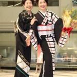 田川寿美 新曲「女の舟唄」発売記念イベント!着物をプロデュースした中村玉緒が応援に