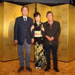 原田悠里が新曲「秘恋」発売記念懇親会。岡千秋さんが作曲。7月に東京、大阪で七夕コンサートを