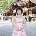 水森かおりが奈良・桜井市の「おんぱら祭」初参加。綱越神社で新曲など全4曲熱唱。大神神社で大ヒット祈願