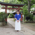 市川由紀乃が出身地、埼玉・浦和の氷川神社でヒット報告&大ヒット祈願。新曲「命咲かせて」が6万枚突破!