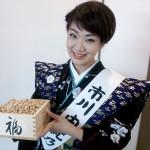 ■市川由紀乃が千葉・法華経寺で節分の豆まき。「今年は最高の花を咲かせたい」