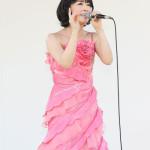 ■水森かおりが新潟・阿賀野市の「第13回ふるさとだしの風まつり」でミニコンサート。猛暑の中で全5曲熱唱