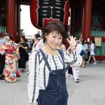 ■井上由美子が新曲「母情歌」発売を記念して東京の観光スポットを巡る「親子の絆バスツアー」を