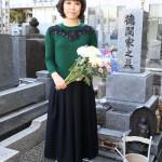 ■水森かおりが亡き恩人・徳間康快元社長の墓前に「NHK紅白歌合戦」15年連続15回目の出場を報告