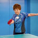 ■中村美律子が第71弾シングル「わすれ酒」に合わせて71回の卓球ラリーに挑戦。大成功!